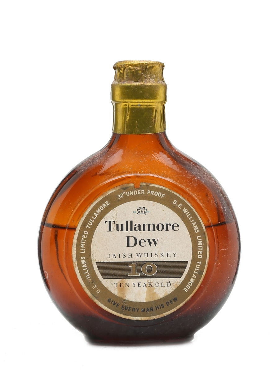 Tullamore Dew 10 Year Old Miniature Bottled 1950s 5cl / 40%