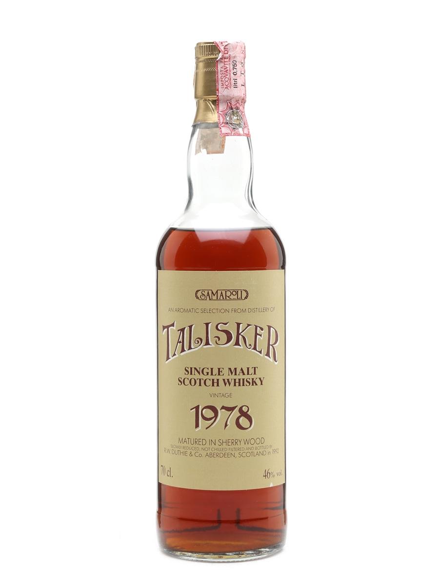Talisker 1978 Samaroli Bottled 1992 70cl / 46%