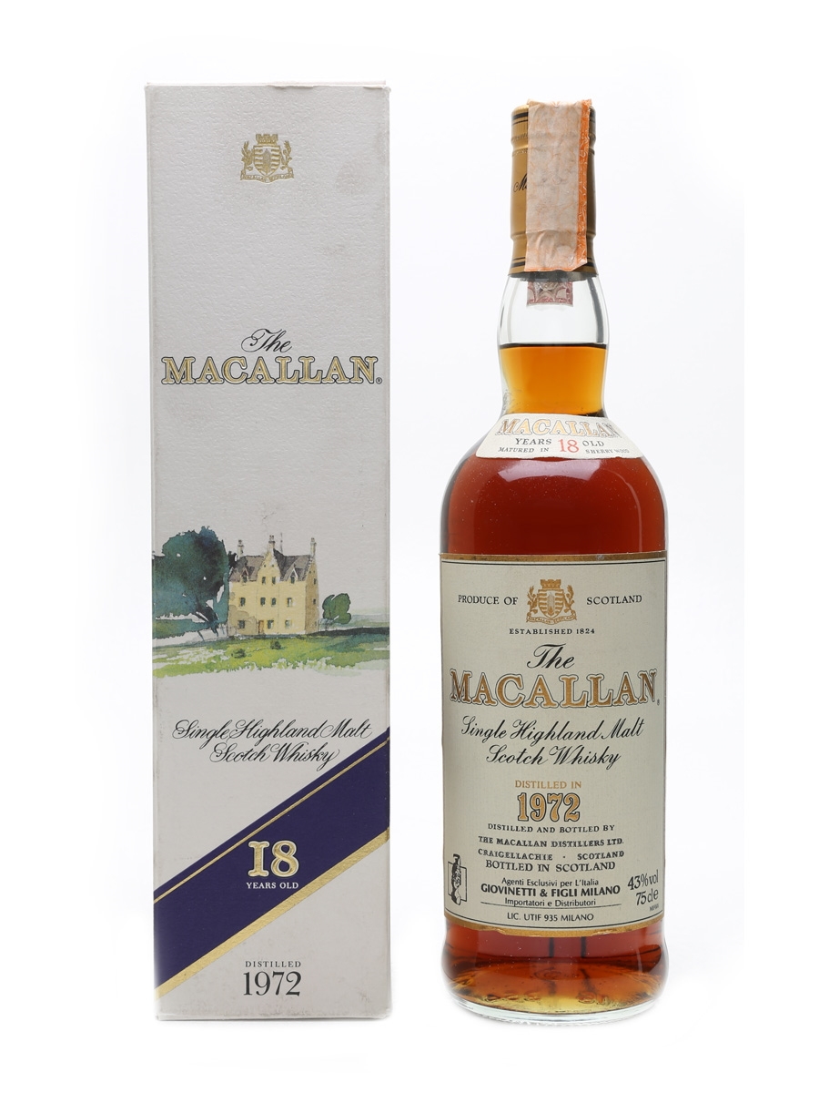 Macallan 1972 18 Year Old - Giovinetti 75cl / 43%