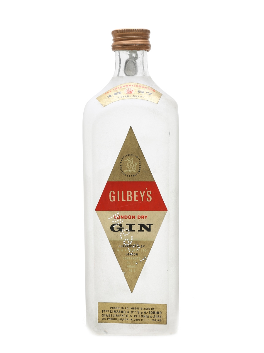 Gilbey's London Dry Gin Bottled 1950s - Cinzano 75cl / 43%