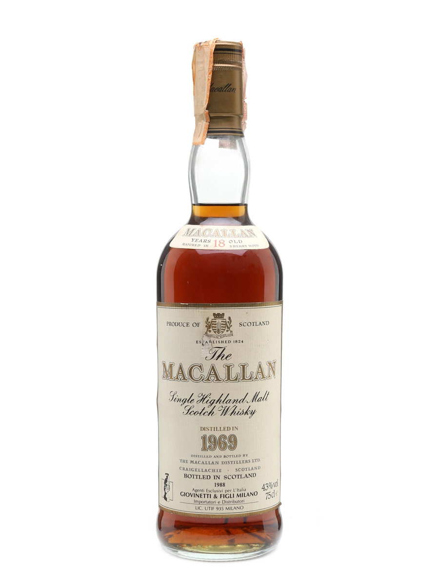 Macallan 1969 18 Year Old - Giovinetti 75cl / 43%