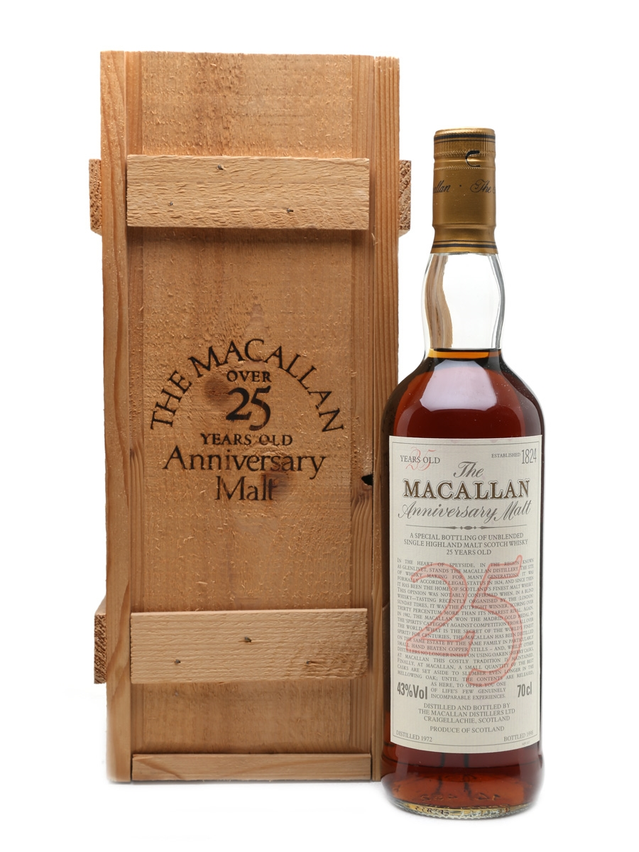 Macallan 1972 Anniversary Malt 25 Year Old 70cl / 43%