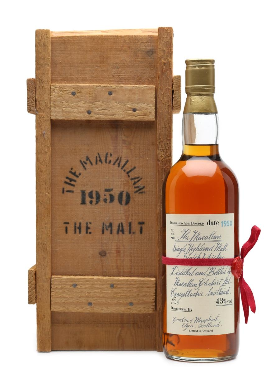 Macallan 1950 Handwritten Label Gordon & MacPhail 75cl