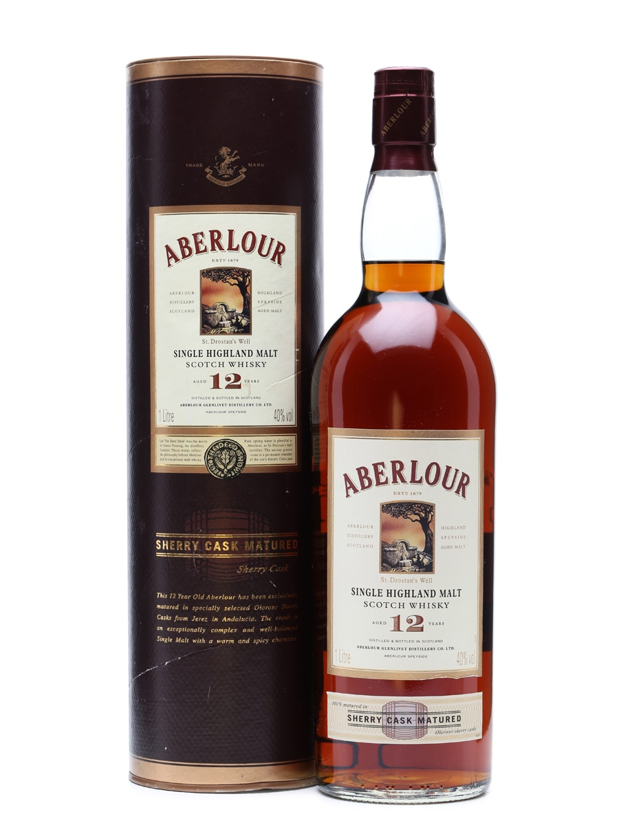 Aberlour 12 Years Old Sherry Cask 1 Litre / 40%