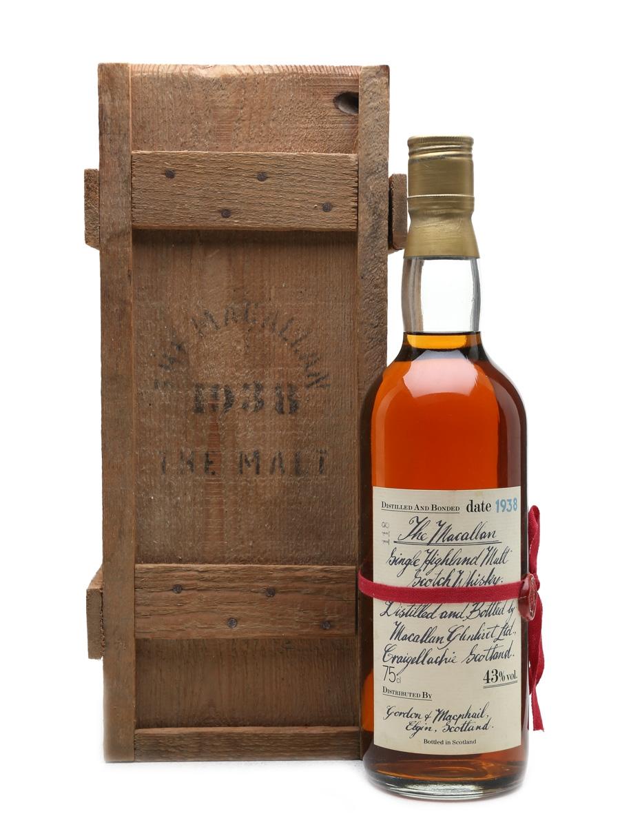 Macallan 1938 Handwritten Label Bottled 1980s 75cl / 43%