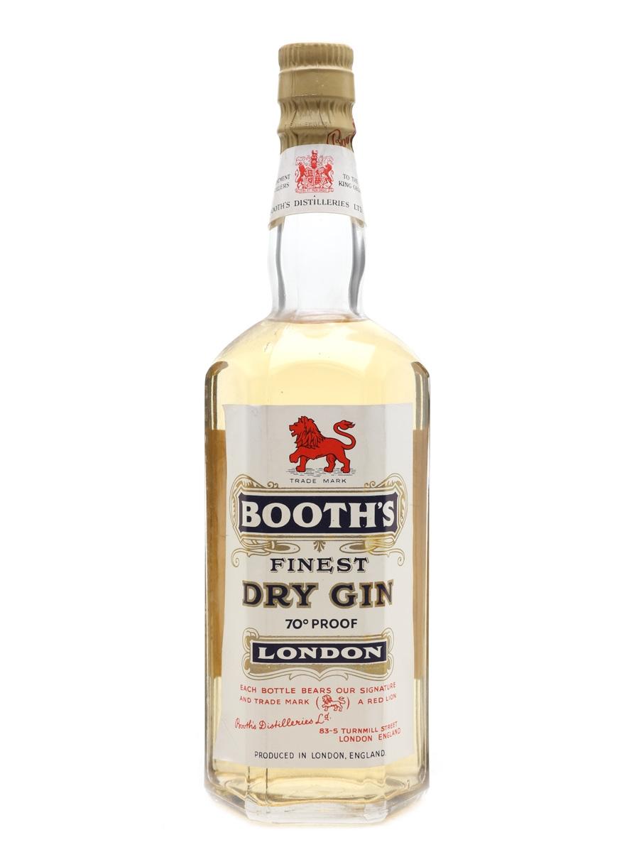 Booth's London Dry Gin Bottled 1955 75cl / 40%