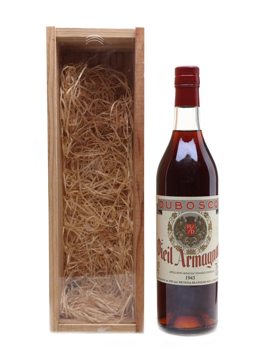 Duboscq 1943 Vieil Armagnac Bottled 1993 Brusina Brandler 70cl / 40%