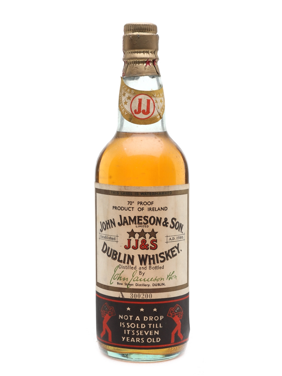 Jameson 7 Year Old Bottled 1940s 75cl / 40%