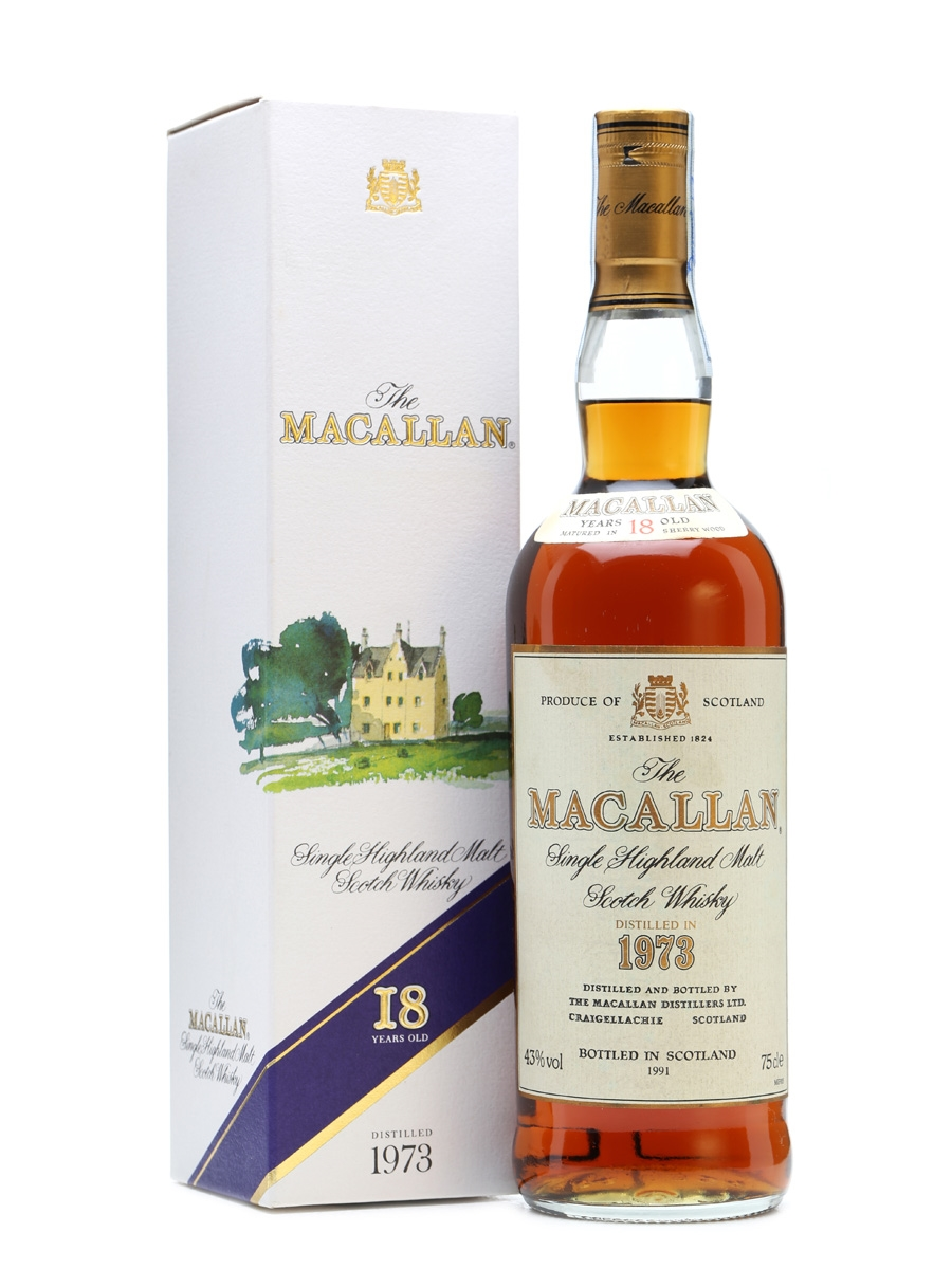 Macallan 1973 18 Years Old Bottled 1991 75cl