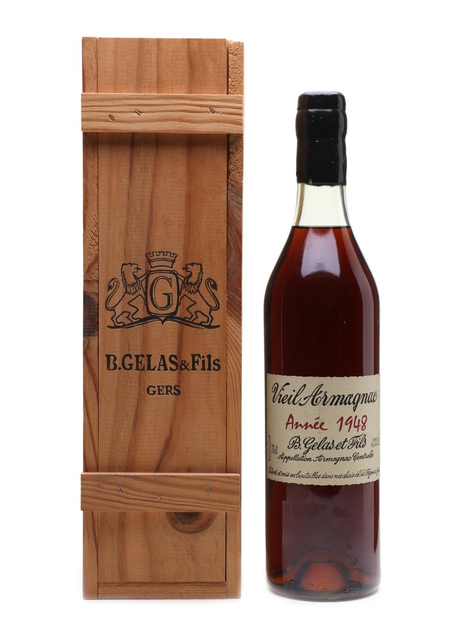 B Gelas & Fils 1948 Vieil Armagnac 70cl / 40%