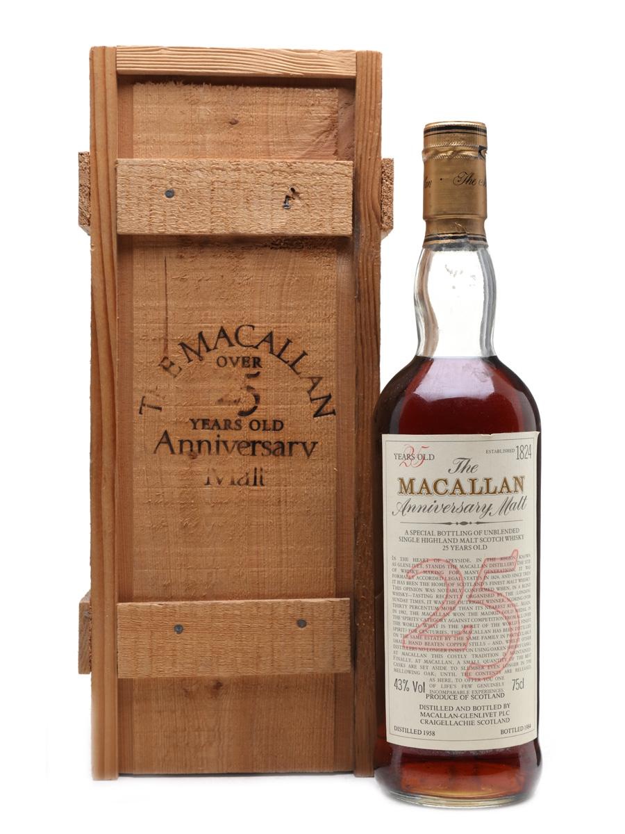 Macallan 1958 Anniversary Malt 25 Year Old 75cl / 43%