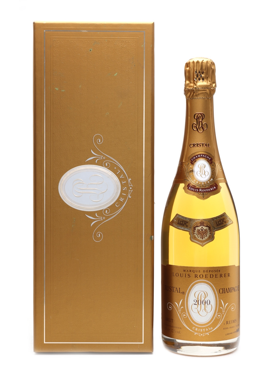 louis roederer cristal 2000 champagne lot 18811 whisky auction whisky fine spirits. Black Bedroom Furniture Sets. Home Design Ideas