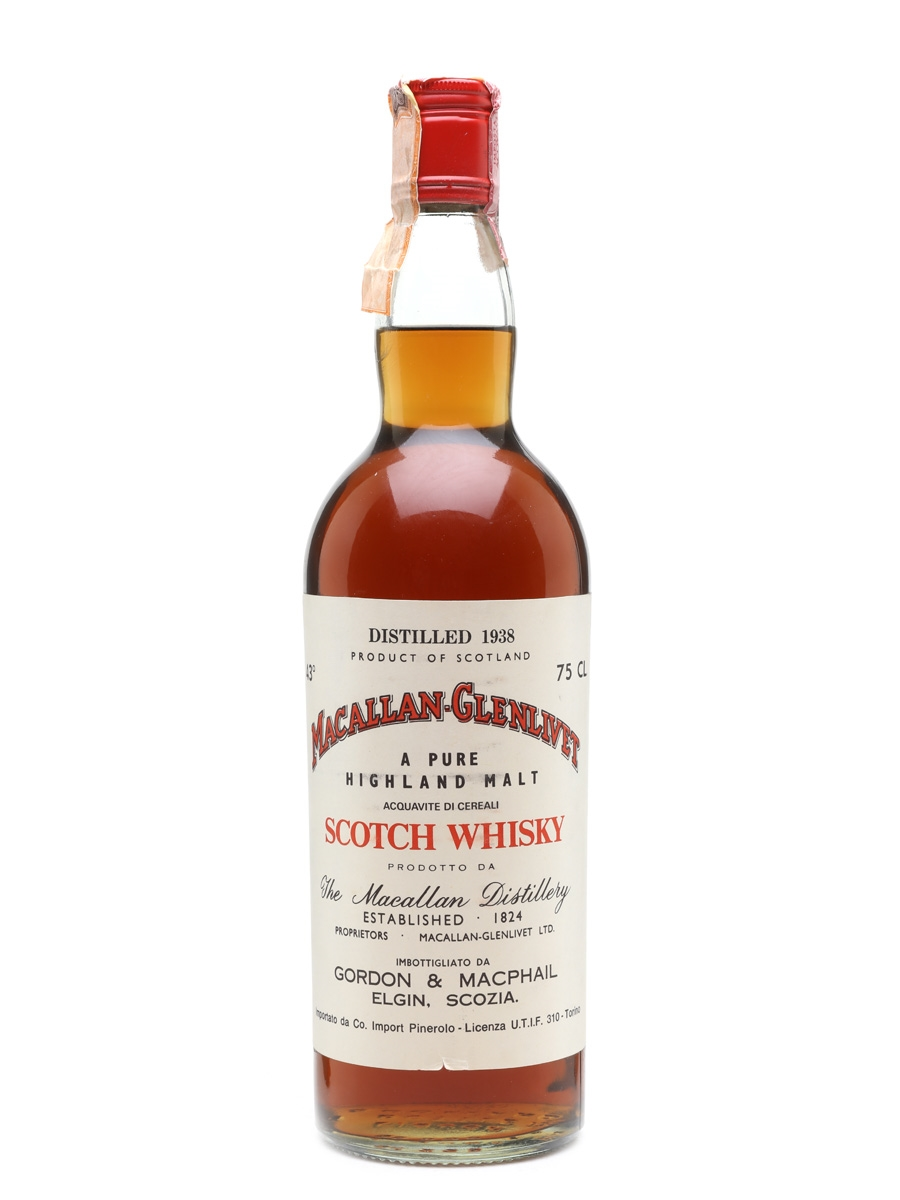 Macallan 1938 Gordon & MacPhail Pinerolo 75cl / 43%