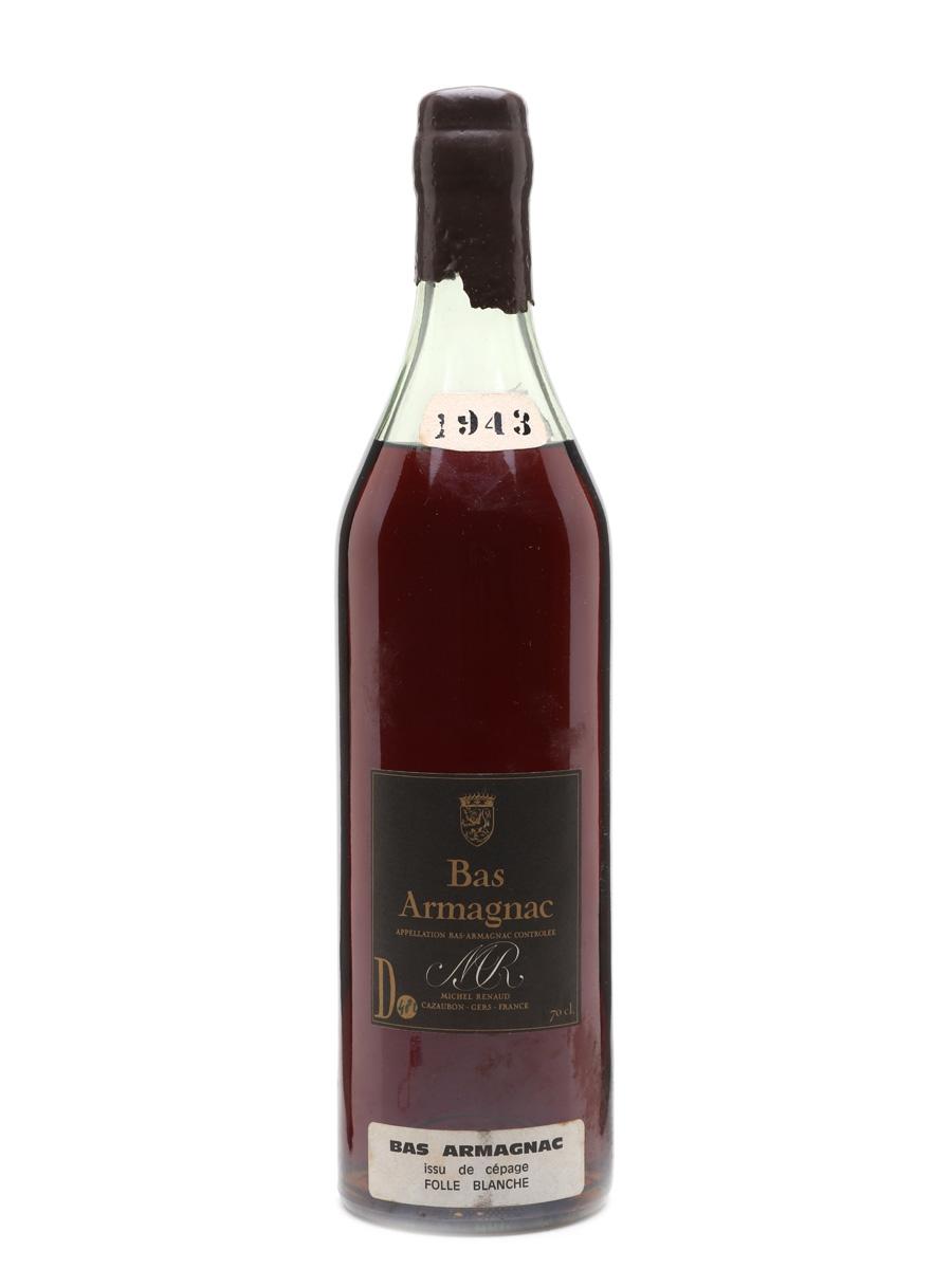 Michel Renaud 1943 Bas Armagnac Folle Blanche 70cl / 40%