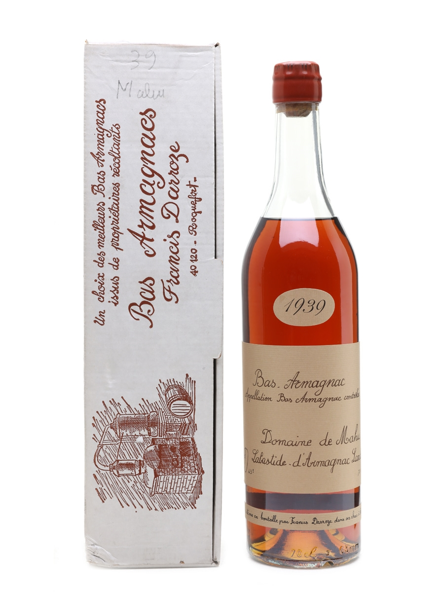 Domaine De Mahu 1939 Bas Armagnac Darroze - Bottled 1985 70cl / 43%