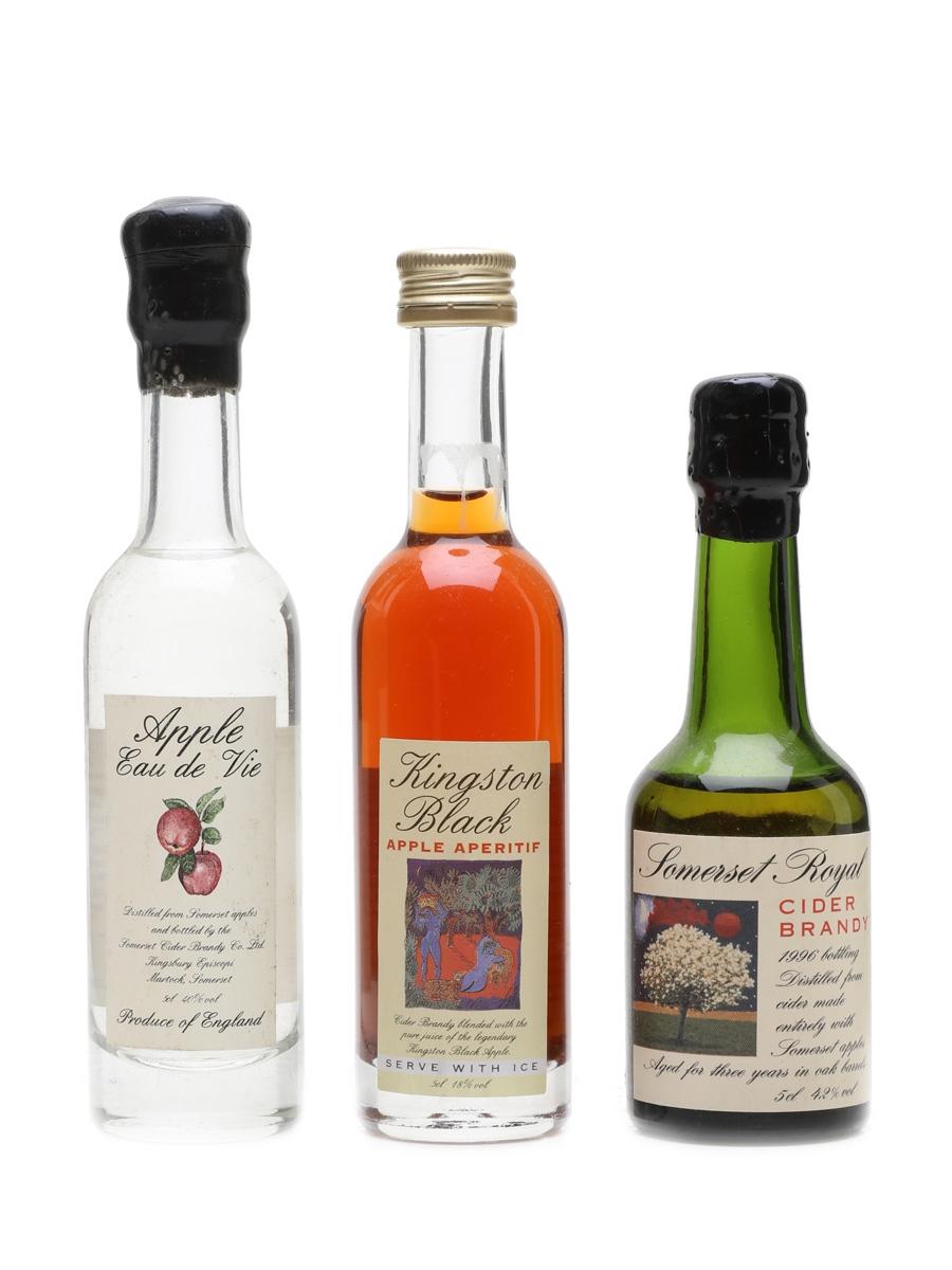 English Apple Spirits & Liqueurs Miniatures 3 x 5cl