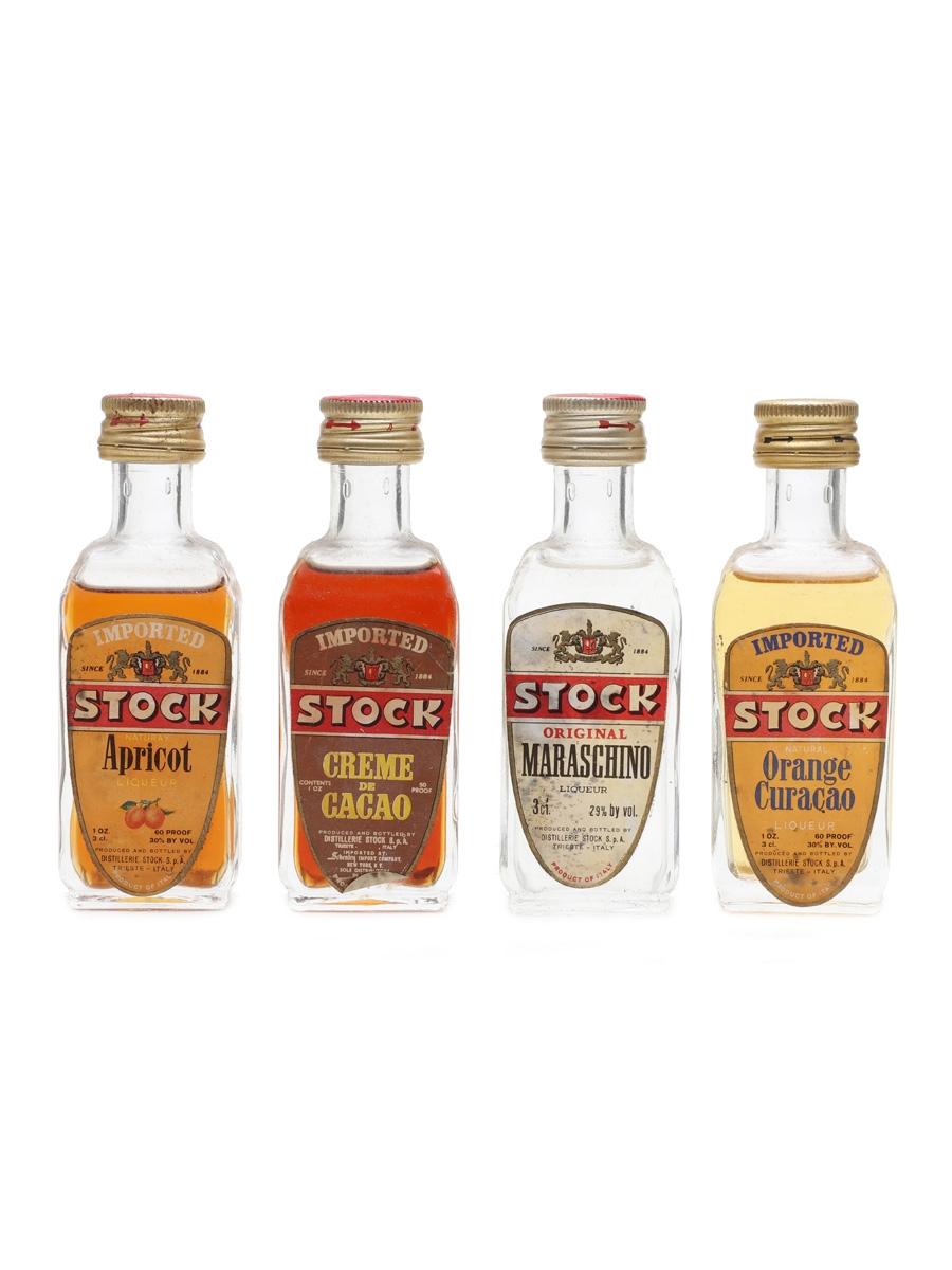 Stock Liqueurs Bottled 1960 - 1970s 4 x 3cl
