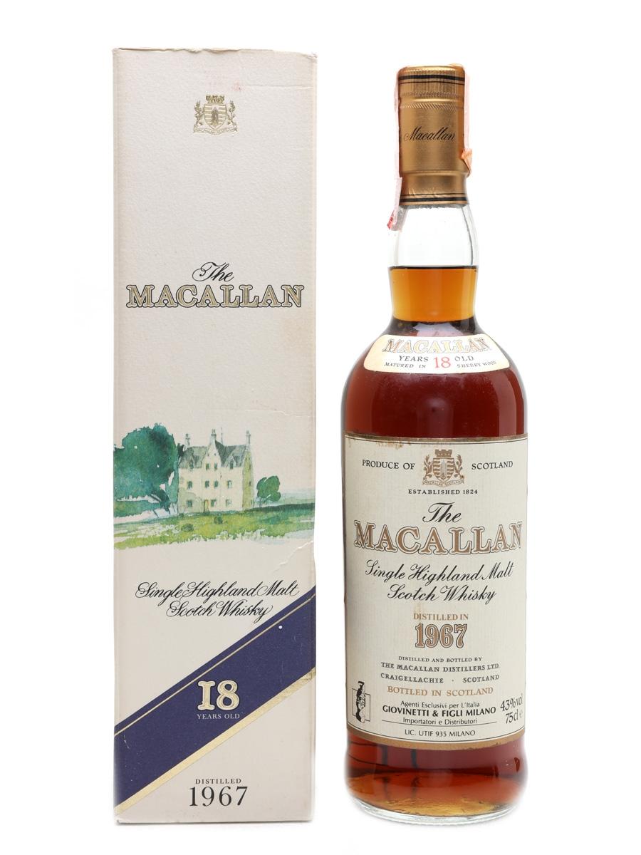Macallan 1967 18 Year Old - Giovinetti 75cl / 43%