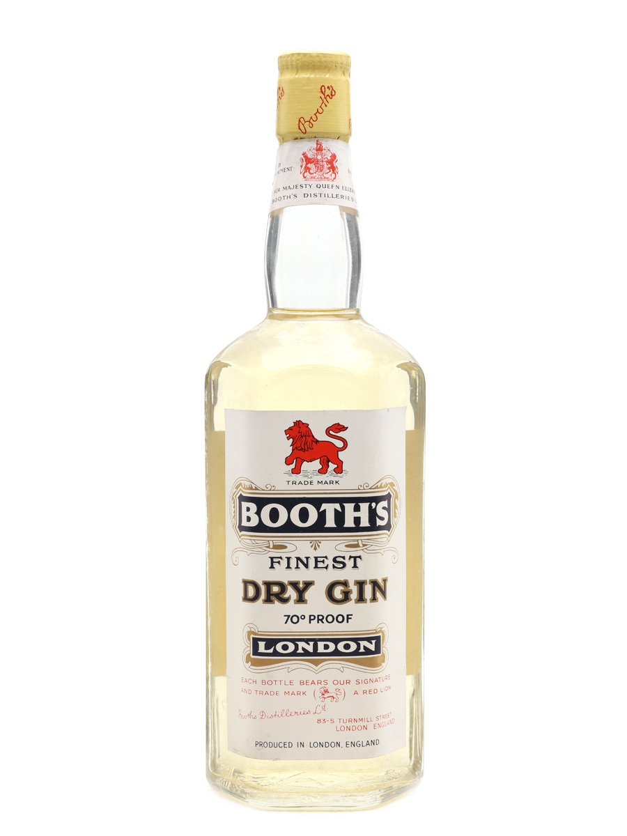 Booth's London Dry Gin Bottled 1957 75cl / 40%