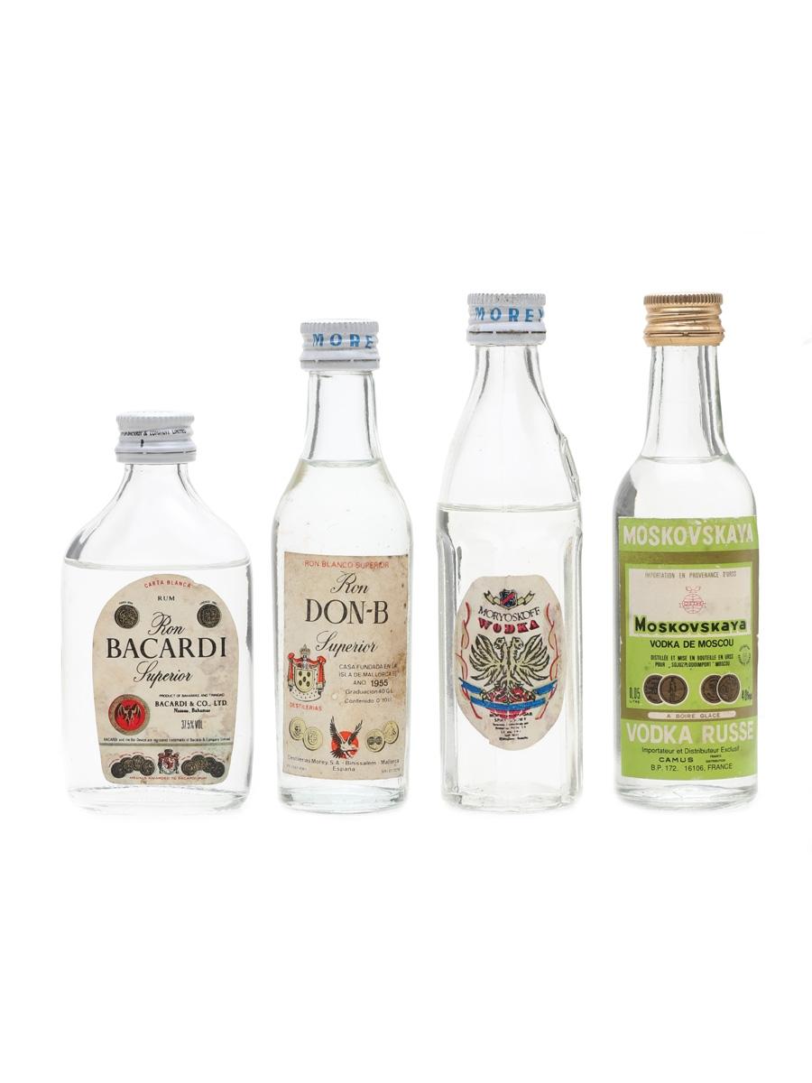 Vodka & Rum Miniatures Bacardi, Moskovskaya 4 x 4cl - 5cl
