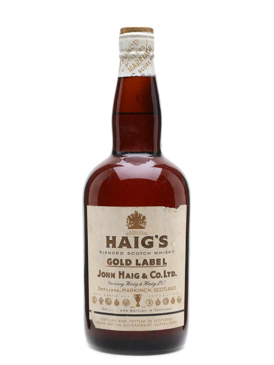 Haig's Gold Label Spring Cap Bottled 1950s 75.7cl / 40%