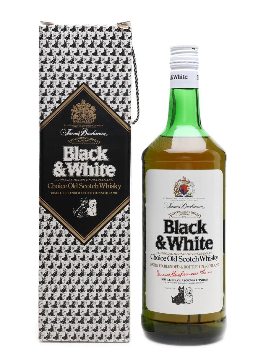 Black & White Bottled 1980s 100cl / 40%
