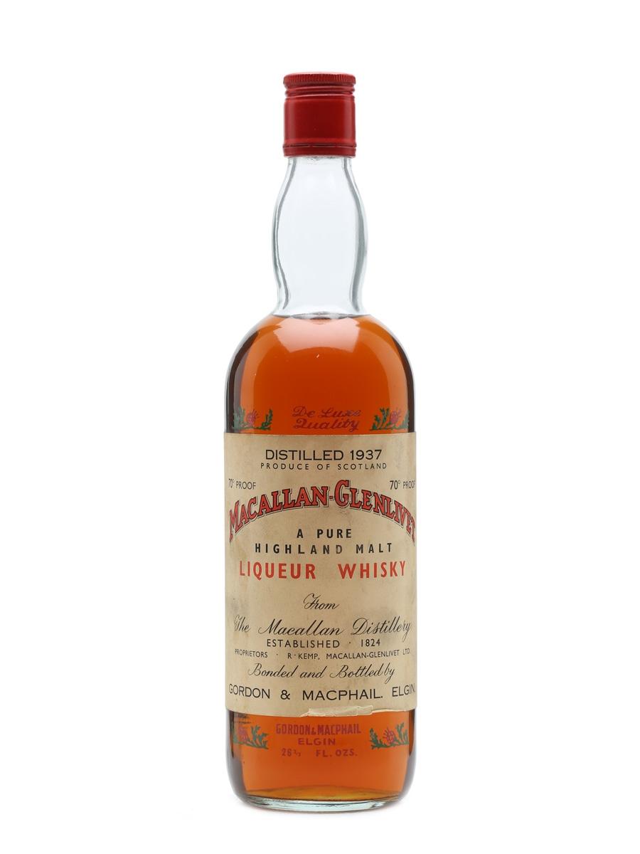 Macallan-Glenlivet 1937 Gordon & MacPhail 75cl