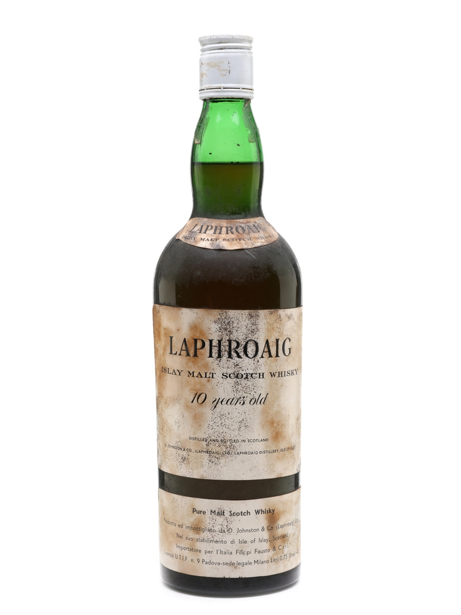 Laphroaig 10 Year Old Bottled 1960s - Filippi Fausto 75cl / 43%