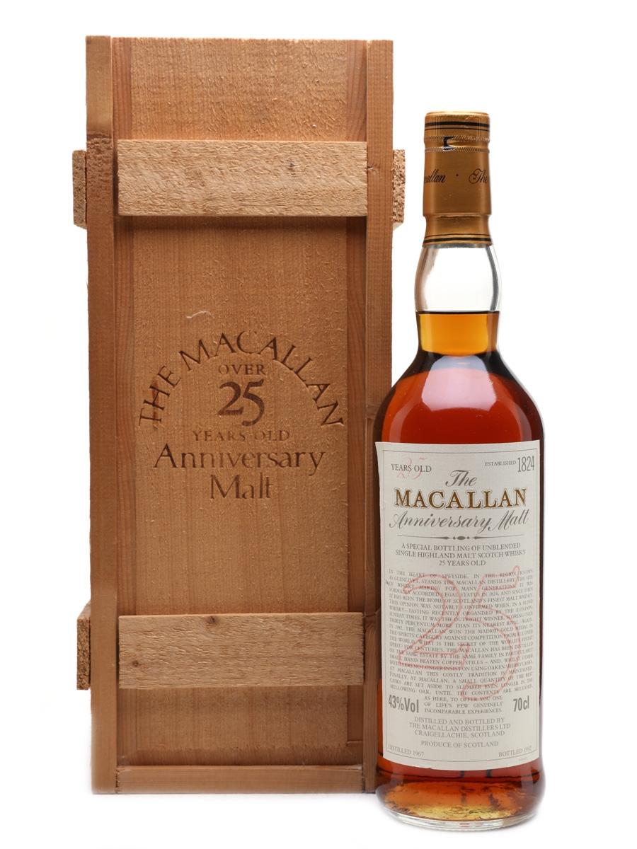 Macallan 1967 Anniversary Malt 25 Year Old 70cl / 43%