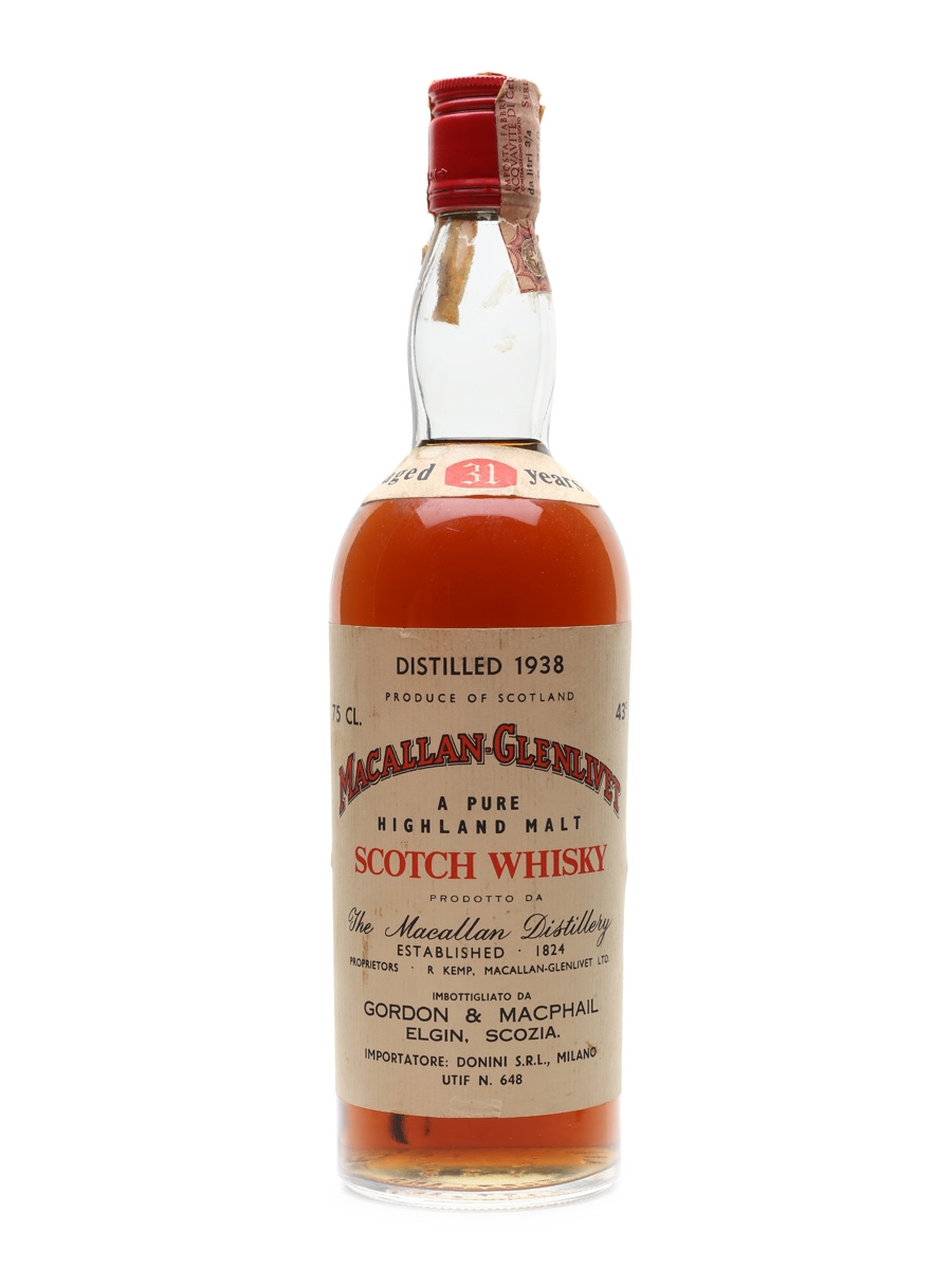 Macallan Glenlivet 1938 Gordon & MacPhail 31 Year Old - Donini 75cl / 43%