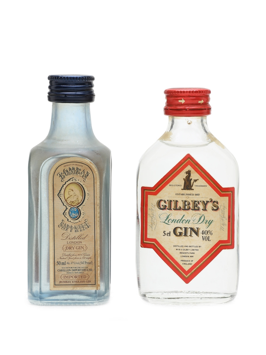 Bombay Sapphire & Gilbey's London Dry Gin  2 x 5cl
