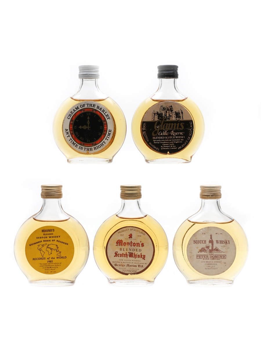 Blended Scotch Whisky Miniatures Round Bottles 5 x 5cl / 40%
