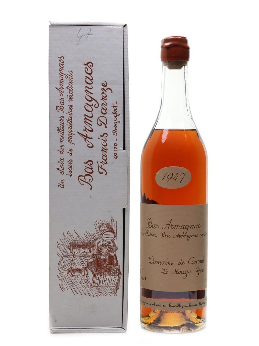 Domaine De Carente 1947 Bas Armagnac Darroze - Bottled 1985 70cl / 45%
