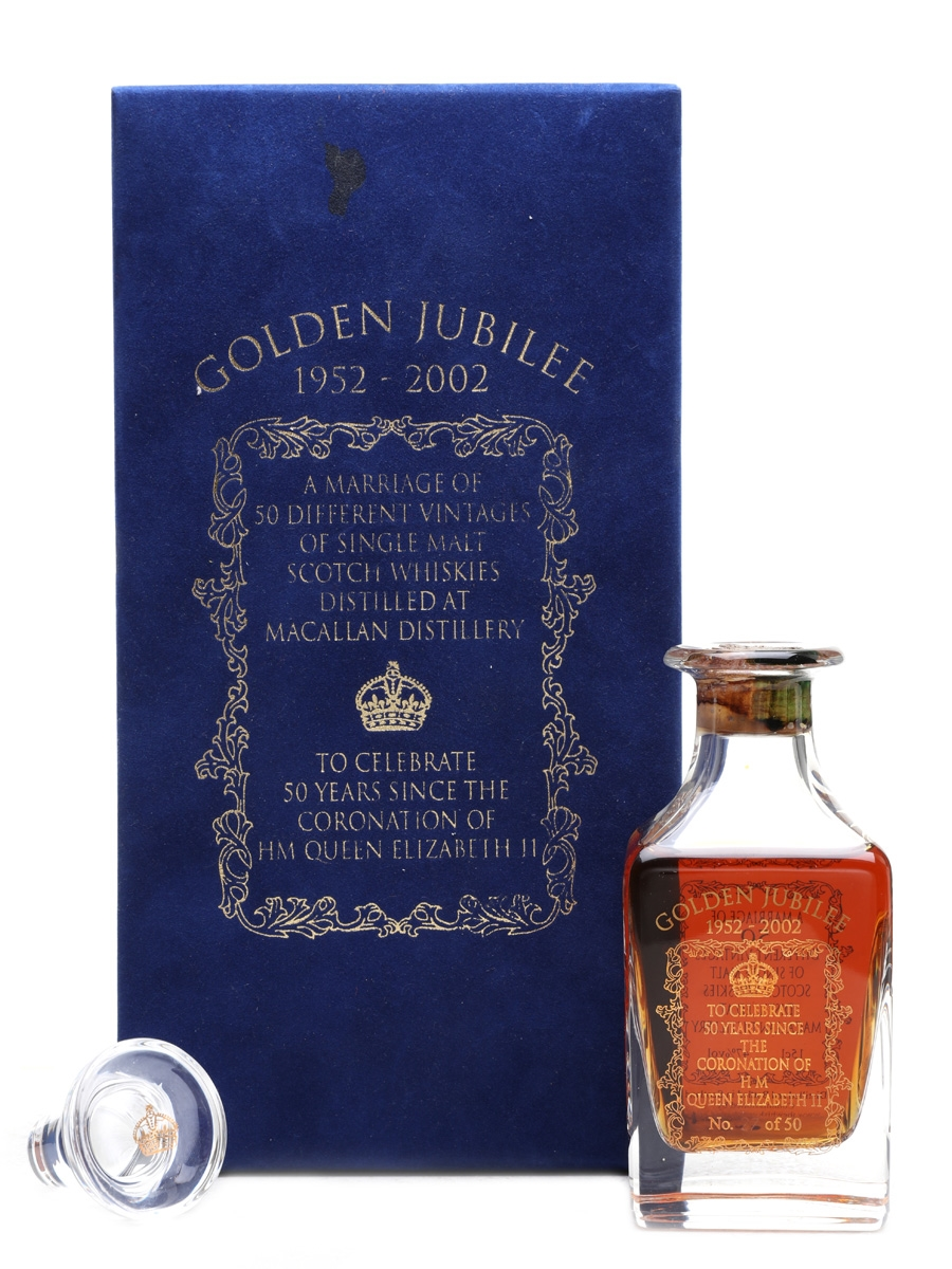 Macallan Golden Jubilee Crystal Decanter - The Whisky Exchange 15cl / 47%