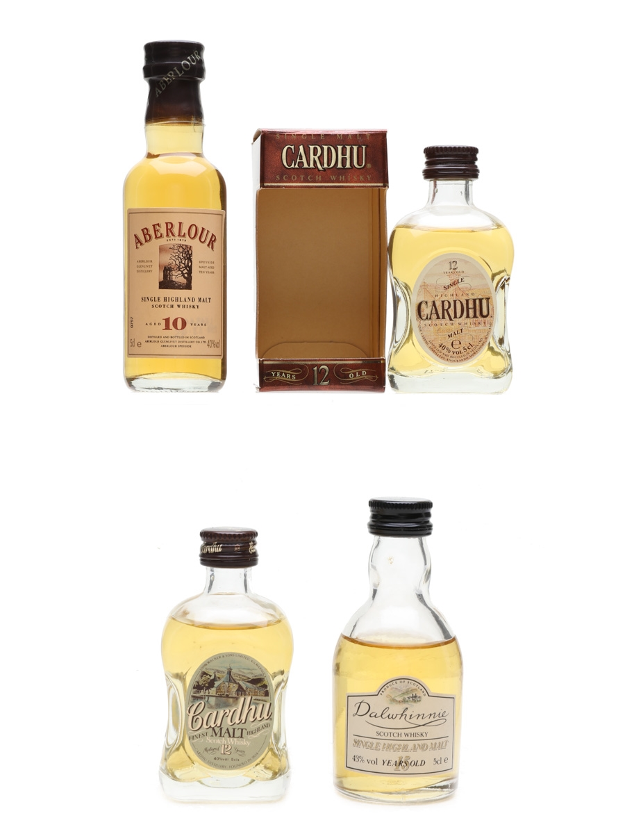 Speyside Single Malts Cardhu, Aberlour, Dalwhinnie 4 x 5cl