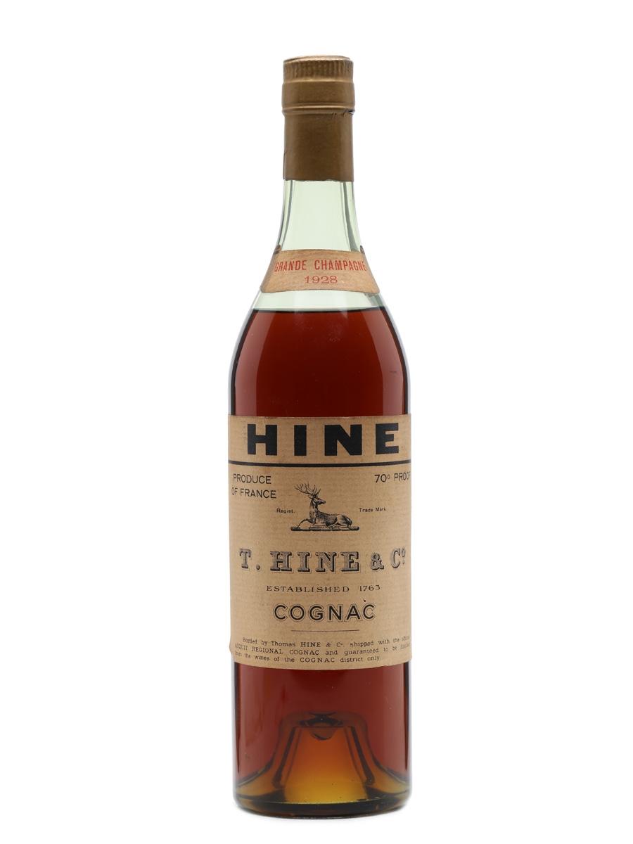 Hine 1928 Grande Champagne Cognac Bottled 1960s 75cl