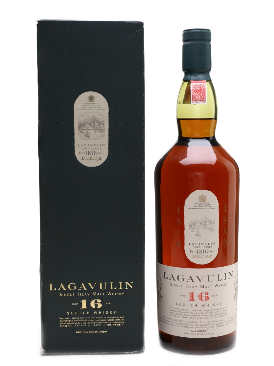Lagavulin 16 Year Old Bottled 1980s-1990s - White Horse Distillers 100cl / 43%