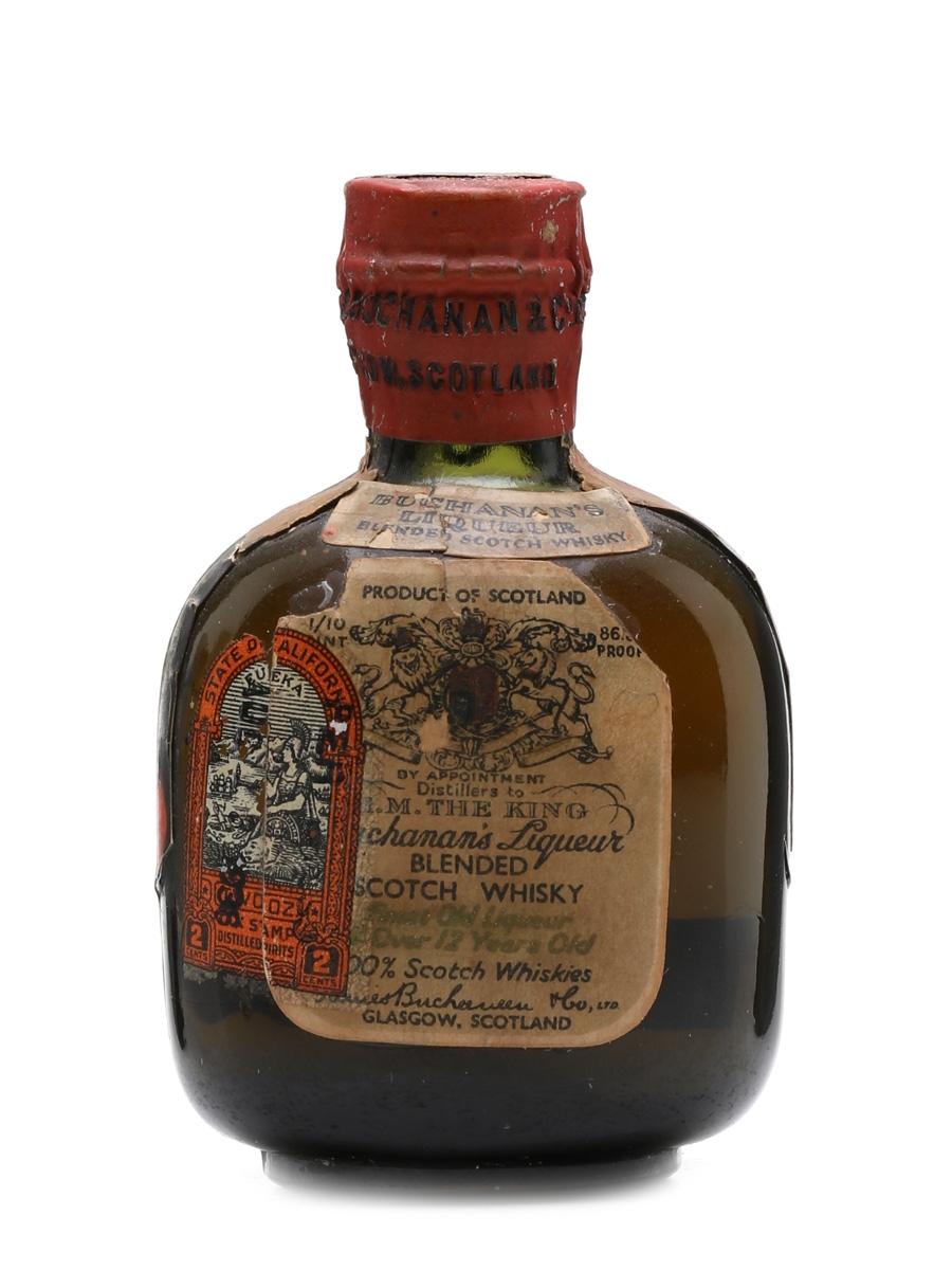 Buchanan's 12 Year Old Bottled 1938 5cl / 43.4%