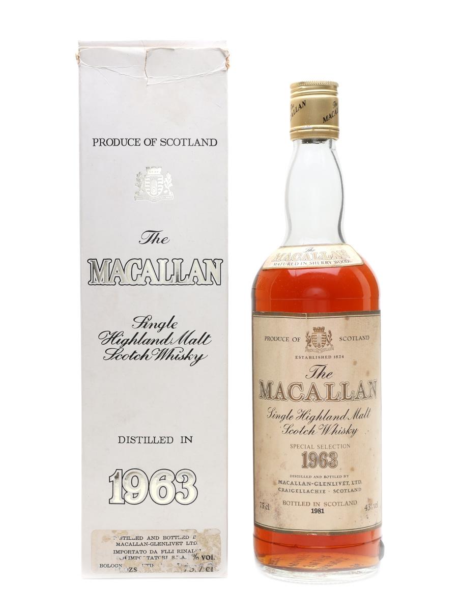 Macallan 1963 Bottled 1981 75cl / 43%