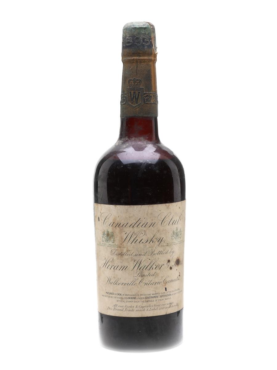 Hiram Walker Canadian Club 1893 Bottled 1901 - 1910 75cl