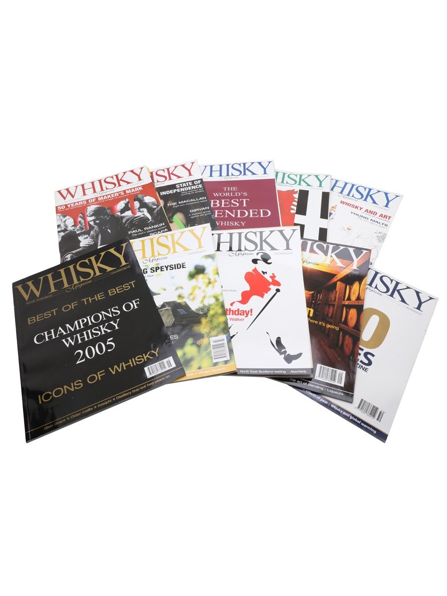 Ten Issues of Whisky Magazine Issues 41 to 50