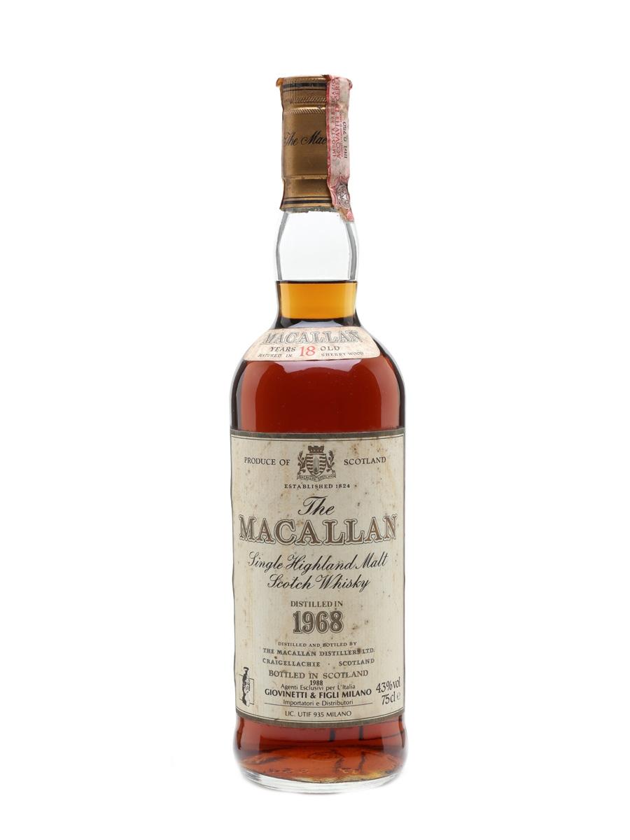 Macallan 1968 18 Year Old - Giovinetti 75cl / 43%