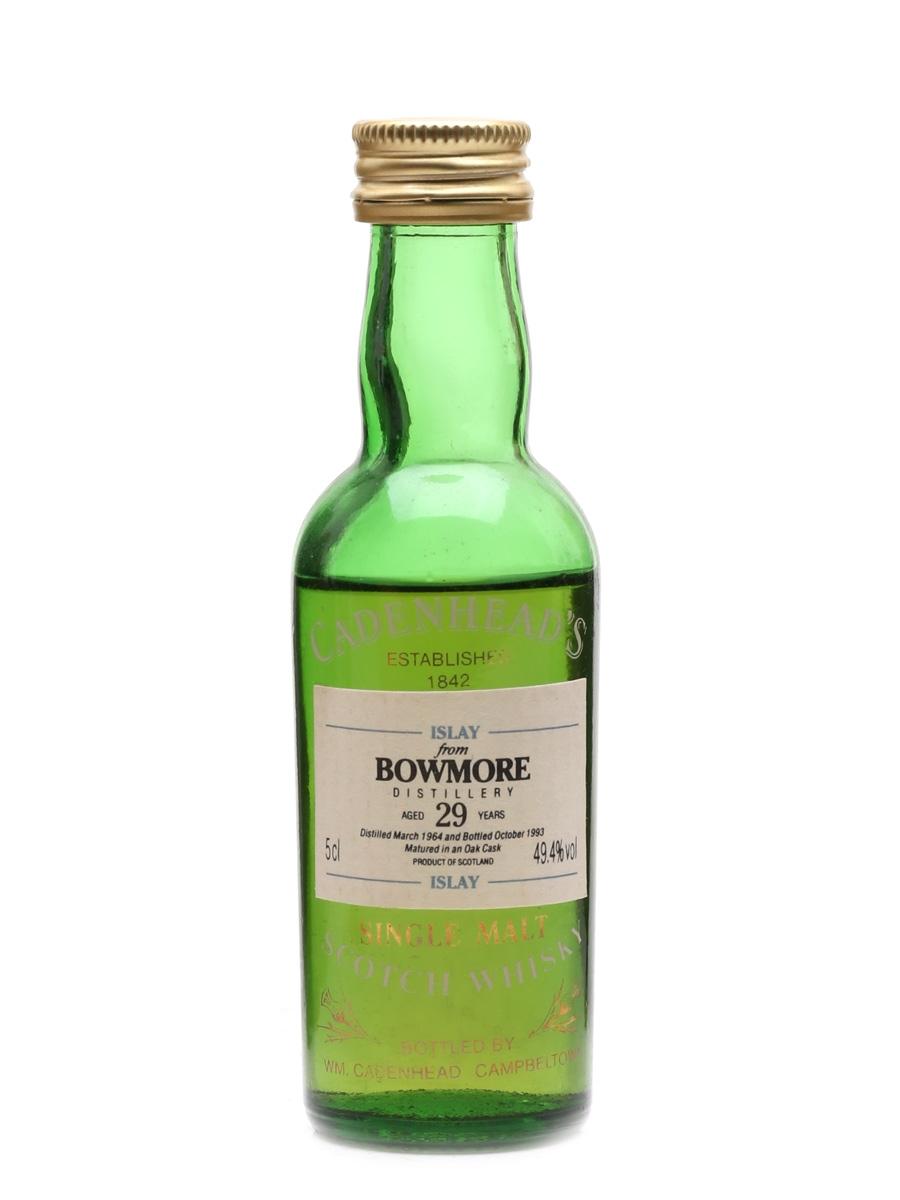 Bowmore 1964 29 Year Old Cadenhead's 5cl / 49.4%