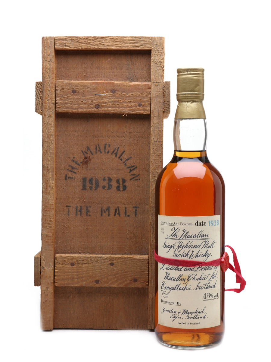 Macallan 1938 Handwritten Label Bottled 1980s 75cl / 43%