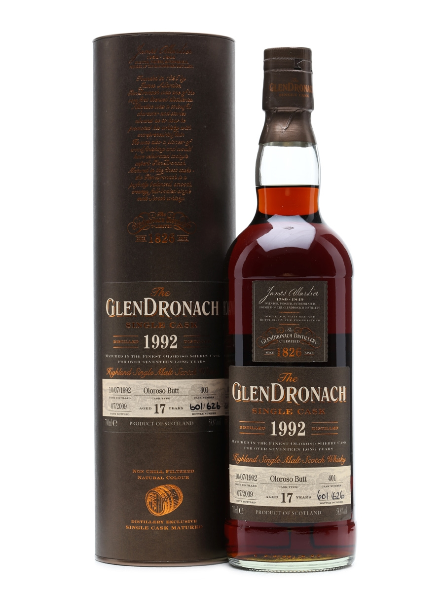 Glendronach 1992 cask #401 17 Years Old 70cl