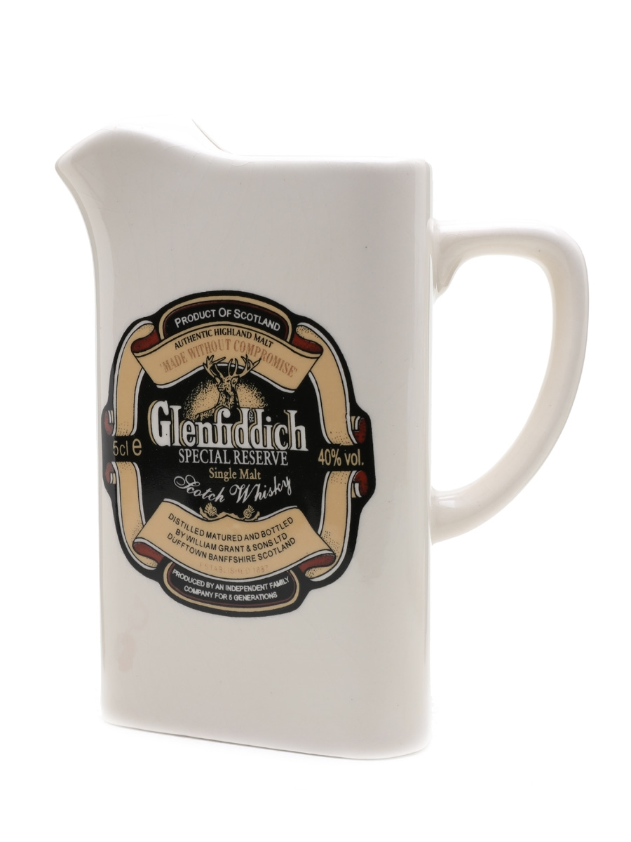 Glenfiddich Special Reserve Large Ceramic Water Jug
