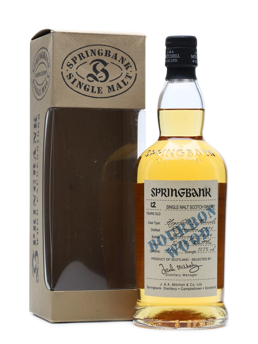 Springbank 1991 12 Years Old Bourbon Wood 70cl / 58.5%