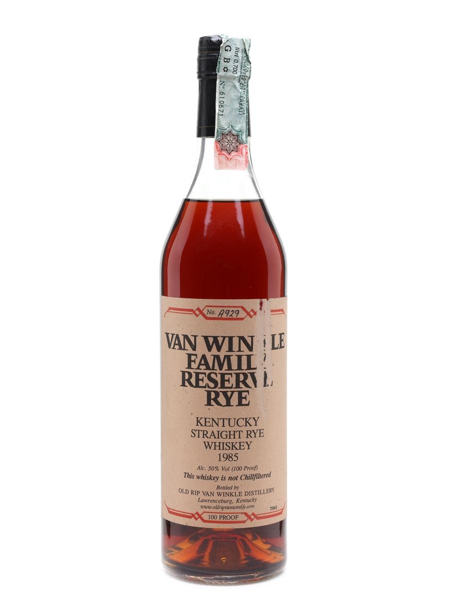 Van Winkle Family Reserve Rye 1985  70cl / 50%