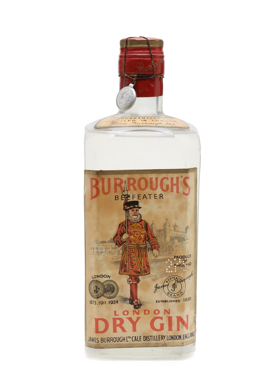 Burrough's Beefeater London Dry Gin Bottled 1950s - Silva 75cl / 44%