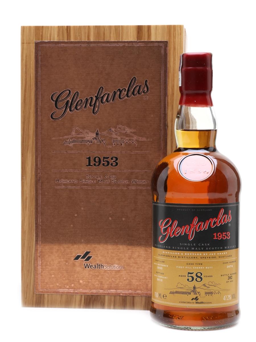 Glenfarclas 1953 Single Cask 58 Year Old - Wealth Solutions 70cl / 47.2%